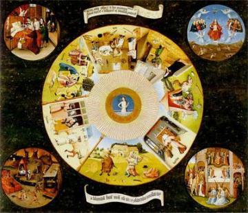 La Mesa de los pecados capitales, es una de las obras del pintor holandés Hieronymus Bosch, El Bosco. Es un óleo sobre tabla, pensado para usarse como encimera o tablero de mesa. Como todas las obras de El Bosco, al no estar fechado por su autor es datado en fechas diversas. Tradicionalmente se considera pintado el año 1485; otras fuentes lo sitúan entre 1475 y 1480. Mide 120 cm de alto y 150 cm de ancho. Se exhibe actualmente en el Museo del Prado de Madrid. Esta tabla fue adquirida por el monarca Felipe II de España, quien la guardó en el monasterio de El Escorial. Se llevó al Museo del Prado durante la guerra civil española.